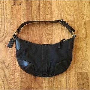 Coach Mini Hobo Signature Black Handbag 11371 Bag